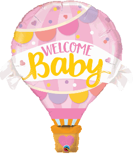 "Supershape Welcome Baby Pink 42"" Balloon - Qualatex"