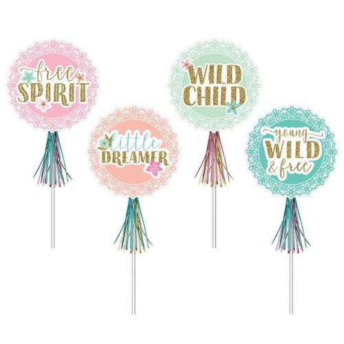 Boho Birthday Girl Wands 8ct - Amscan