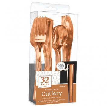 Premium Cutlery Assorted Rose Gold 32ct - Amscan