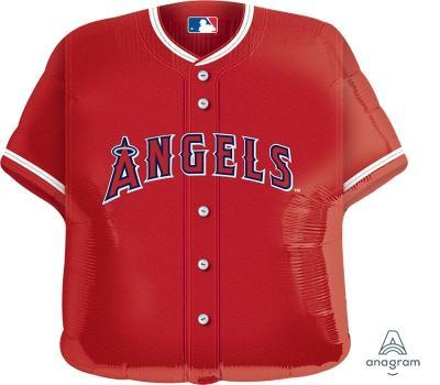 "Supershape LA Angels Jersey 24"" Balloon - Anagram"
