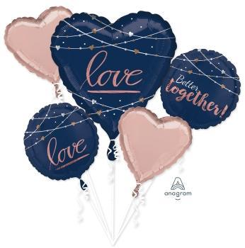 Navy Wedding Balloon Bouquet - Anagram