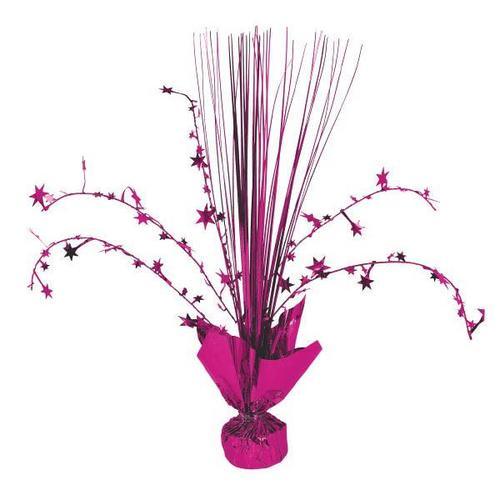 Bright Pink Foil Spray Centerpiece - Amscan