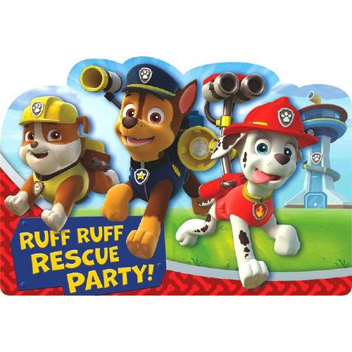 Paw Patrol Invitation 8ct - Amscan
