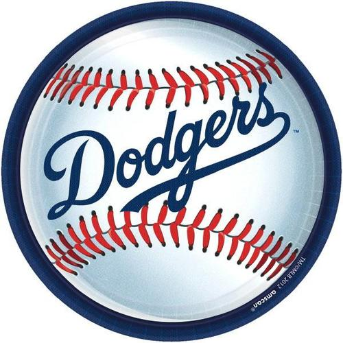 "Dodgers 9"" Plate 18Ct - Amscan"