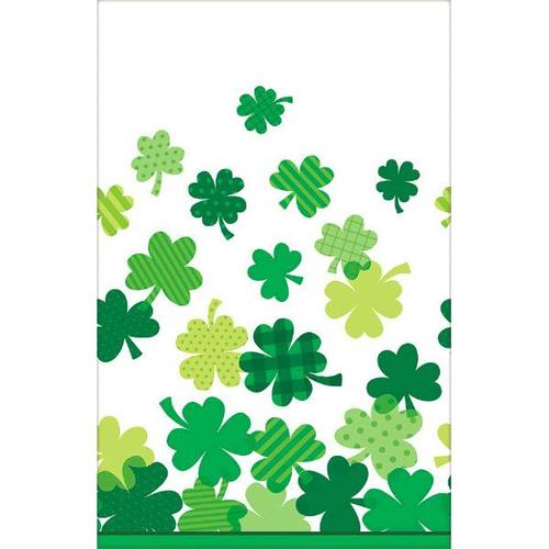 Shamrocks Plastic Table Cover - Amscan