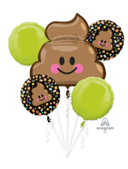 Emoji Poop Balloon Bouquet - Anagram