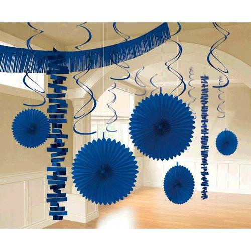 Bright Royal Blue Paper & Foil Decorating Kits 18ct - Amscan