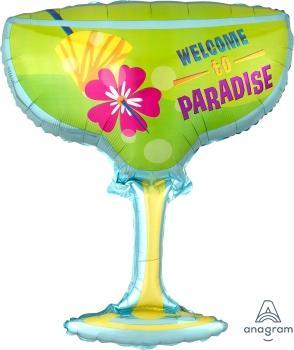 "Supershape Welcome to Paradise 28"" Balloon - Anagram"