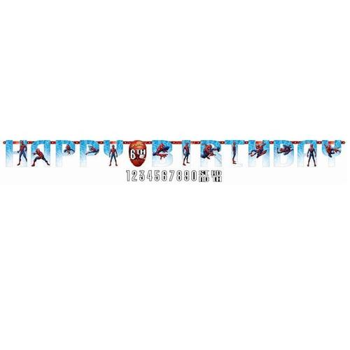 Spider Man Webbed Wonder Jumbo Birthday Banner - Amscan