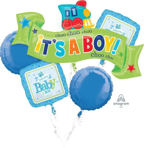Welcome Little One - Boy Balloon Bouquet - Anagram