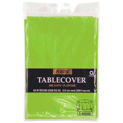 "Kiwi 84"" Round Plastic Table Cover - Amscan"
