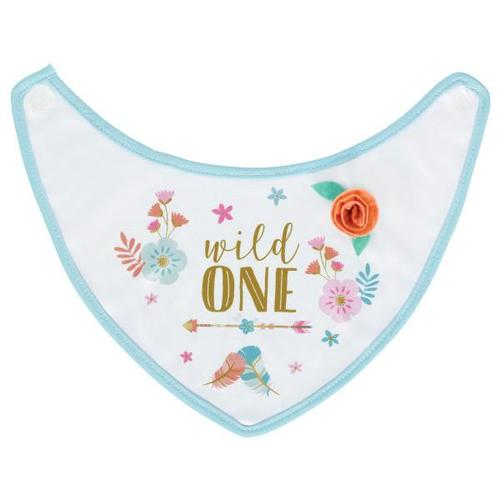 Boho Birthday Girl Fabric Baby Bib - Amscan