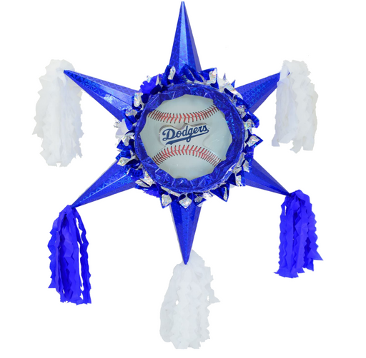 3D Star Piñata Staple Free - Dodgers