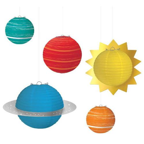 Blast Off Birthday Planet Paper Lanterns - Amscan