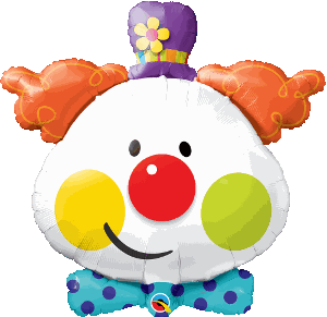 "Supershape Cute Clown 36"" Balloon - Qualatex"