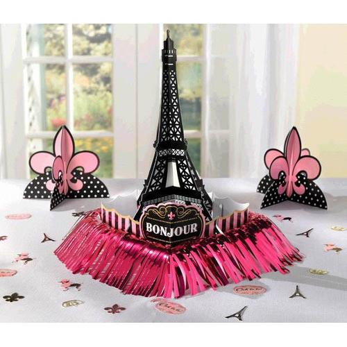 Day In Paris Table Deco Kit - Amscan