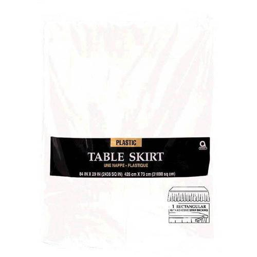 Frosty White  Plastic Table Skirt - Amscan