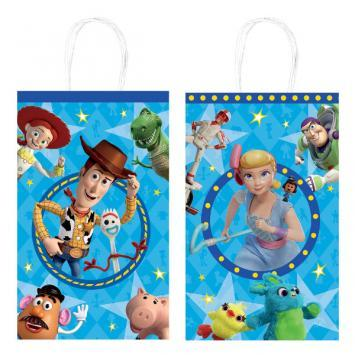 Toy Story 4 Paper Printed Kraft Bags 8ct - Amscan
