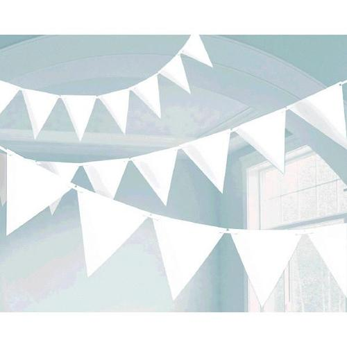 Frosty White Paper Pennant Banner - Amscan