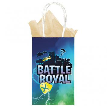 Battle Royal Paper Printed Kraft Bags 8ct - Amscan