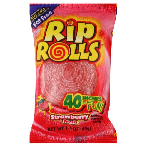 Strawberry Rip Rolls 24/1.4oz - Foreign Candy Company