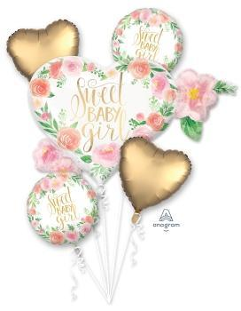 Floral Baby Girl Balloon Bouquet - Anagram