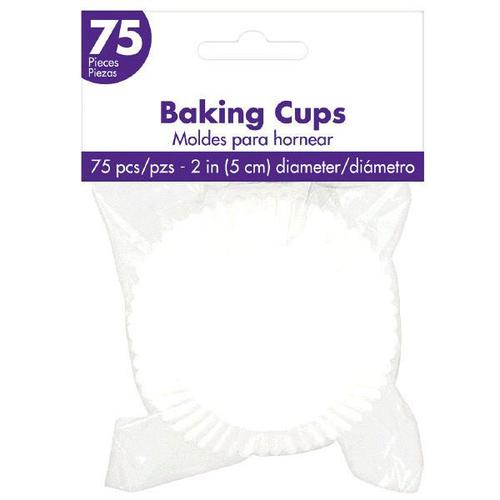 Cupcake Cases White 75ct - Amscan