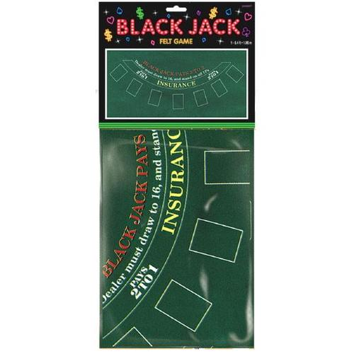 Casino Blackjack Felt Table Cover - Amscan
