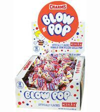 Blow Pop Cherry 48/.65oz - Charms Company