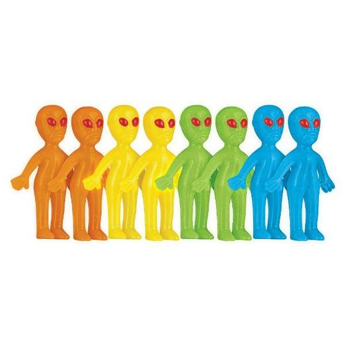 Blast Off Birthday Glow in the Dark Aliens 8ct - Amscan