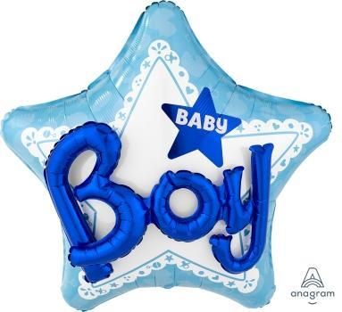 "Supershape Multi 3D Celebrate Baby Boy 32"" Balloon - Anagram"