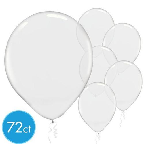 Latex Balloons 72ct Clear - Amscan