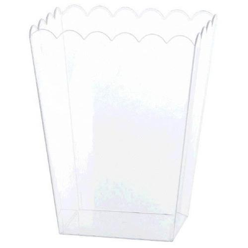 Plastic Container Clear Scalloped Large - Amscan