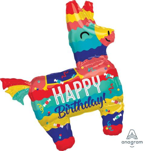 "Supershape Fiesta Pinata 33"" Balloon - Anagram"