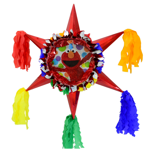 3D Star Piñata Staple Free - Elmo - Piñata District
