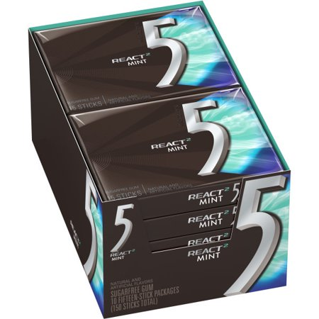 Five React Mint Gum 10/15 - Wrigley
