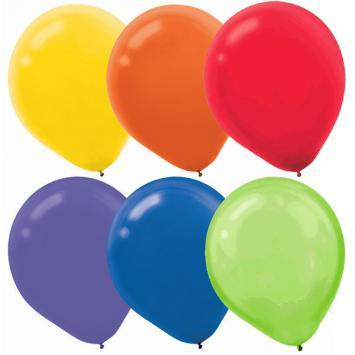 Latex Balloons 72ct Assorted Bright - Amscan