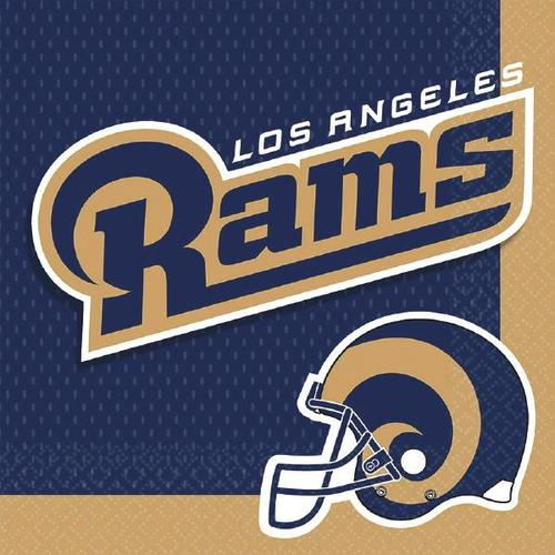 LA Rams Lunch Napkins 16ct - Amscan