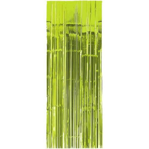 Kiwi Metallic Curtain 3'x8' - Amscan