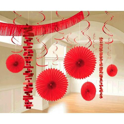 Apple Red  Paper & Foil Decorating Kits 18ct - Amscan