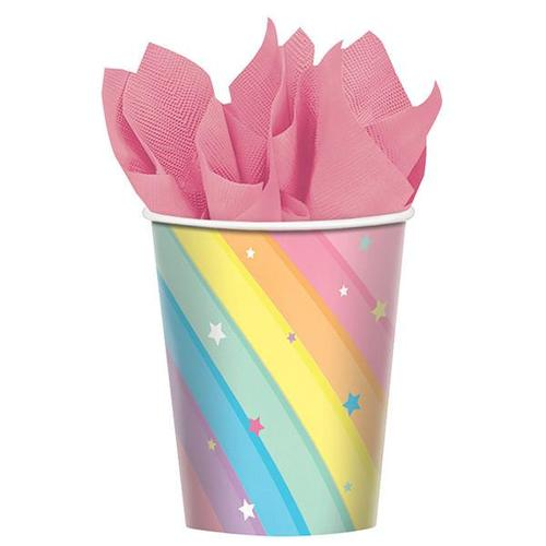 Magical Rainbow Cups 8ct - Amscan