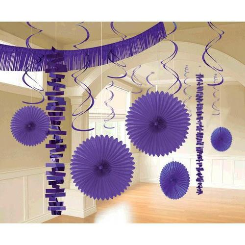 New Purple Paper & Foil Decorating Kits 18ct - Amscan