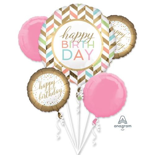 Blush Birthday Balloon Bouquet - Anagram