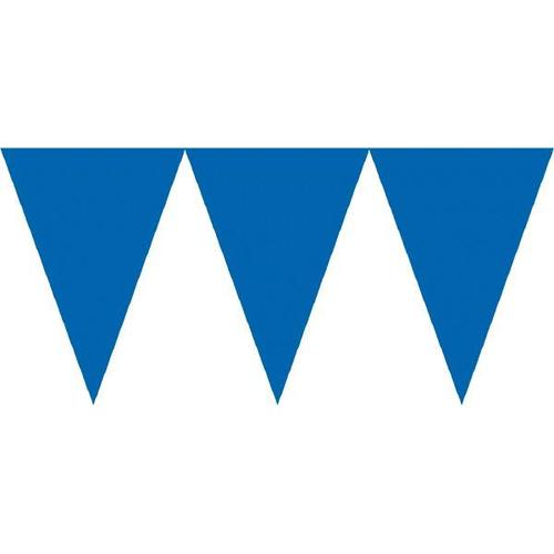 Bright Royal Blue Paper Pennant Banner - Amscan