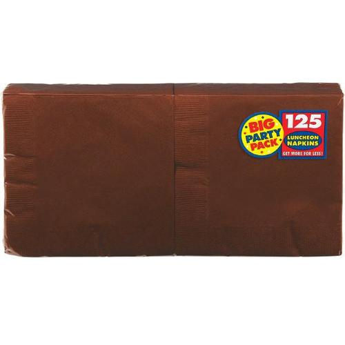 Chocolate Brown Lunch Napkin 125ct - Amscan