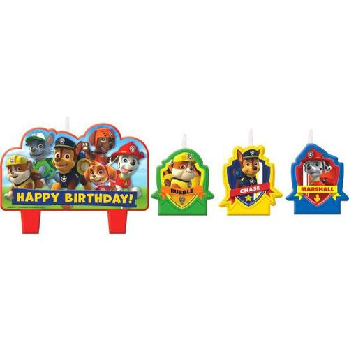 Paw Patrol 4pc Candle Set - Amscan