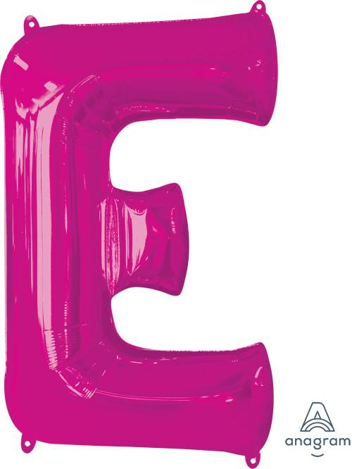 "Supershape Pink Letter E 32"" Balloon - Anagram"