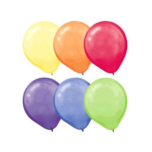 Latex Balloons 72ct Assorted Pearlized - Amscan