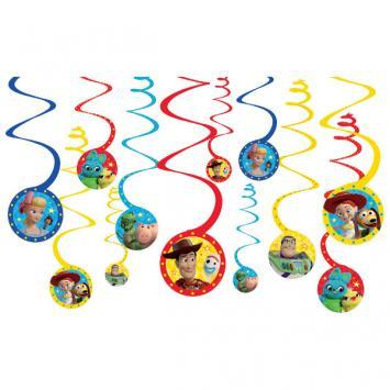 Toy Story 4 Swirl Decorations - Amscan