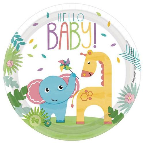 Fisher Price Hello Baby Dessert Plates 8ct - Amscan